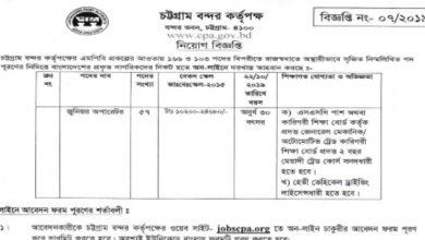 Photo of Chittagong Port Authority (CPA) Job Circular 2019