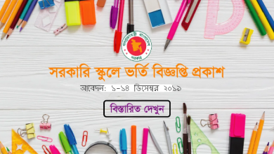 Photo of Govt Scholl Admission Circular 2020 at www.gsa.teletalk.com.bd