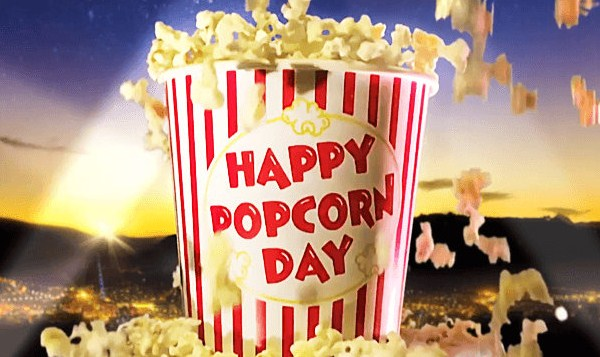 Happy National Popcorn Day Message