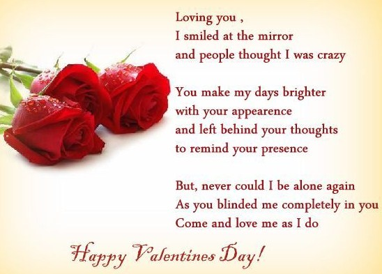 Romantic Valentine Day Message for GF / BF