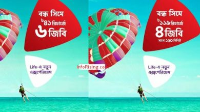 Photo of Robi Bondho SIM offer 2020! 6GB@41TK & 4GB with 120 Min Anynet@119TK!