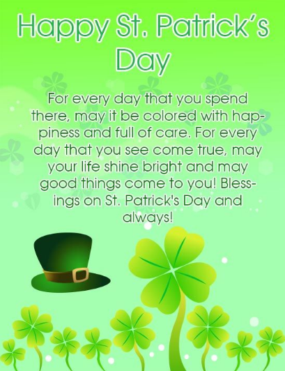 St. Patrick's Day 2020 Greetings, Image, Wallpaper and Photo